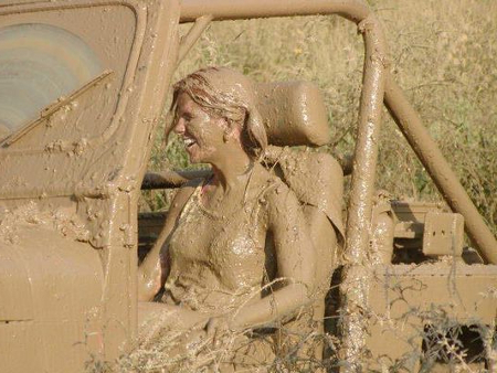 Girl Jeep Mud