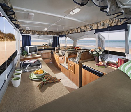 Camping Trailers: How to Choose One? camping trailer interior