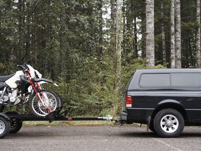 Towing a Motorcycle or ATV towing motorcycle and atv